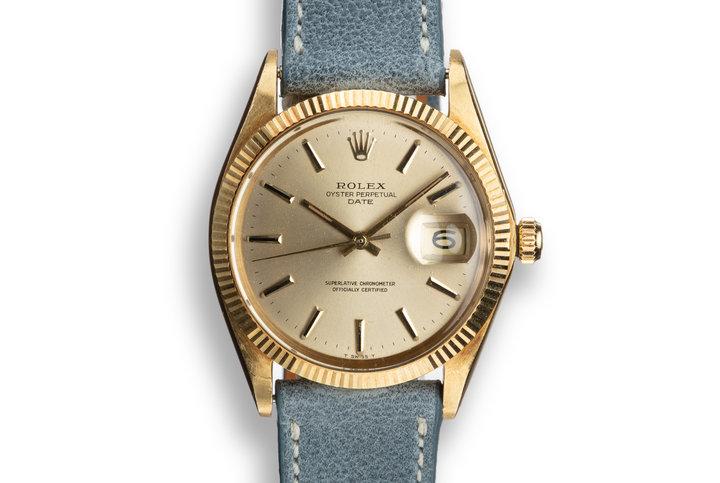 1969 Rolex 18K Date 1503 photo