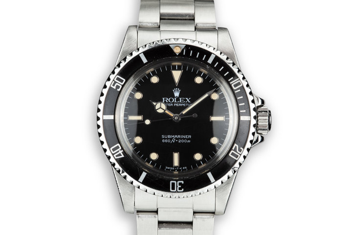 """1985 Rolex Submariner 5513  """"Spider"""" Dial with Service Papers photo"""