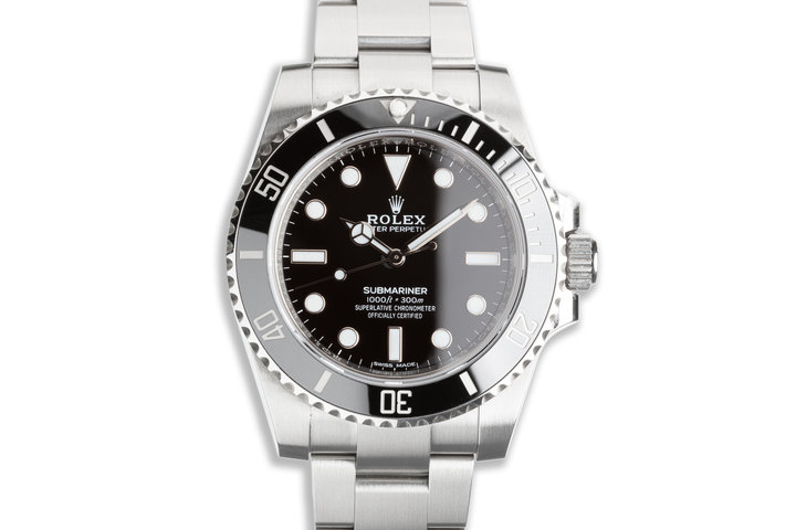 2019 Rolex Submariner No-Date 114060 with Box & Card photo