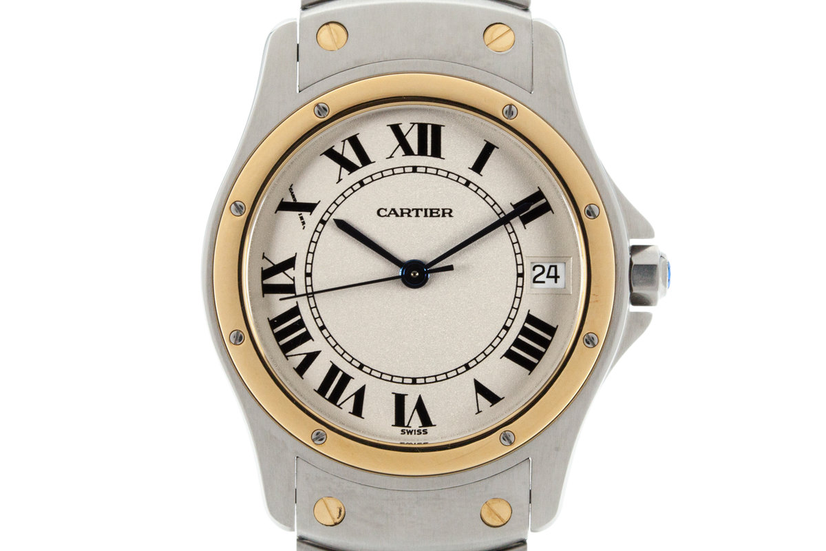 1990's Cartier Santos Ronde Automatic with Box and Papers photo, #0