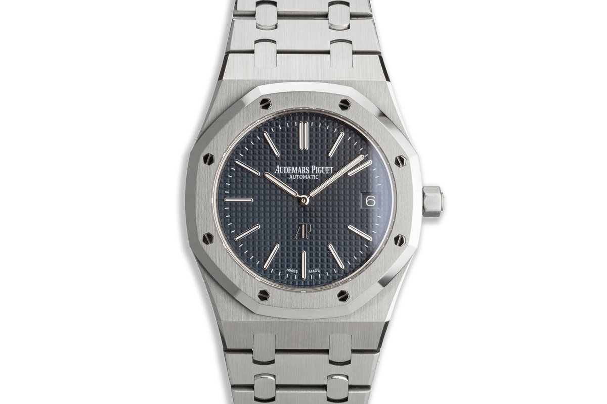 """2017 Audemars Piguet Royal Oak """"Jumbo"""" Extra-Thin 15202ST.OO.1240ST.01.A with Box and Papers photo, #0"""