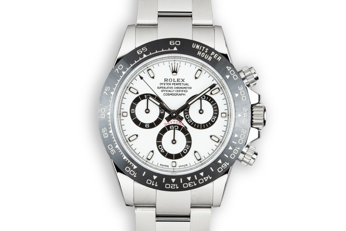 2018 Rolex Daytona 116500LN White Dial with Box and Papers photo, #0