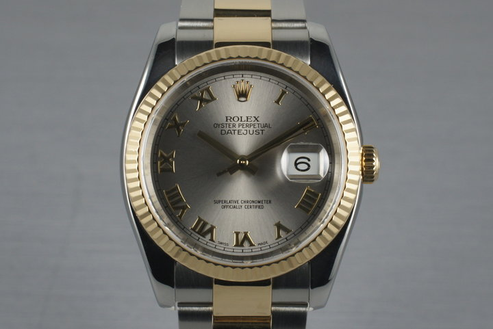 2003 Rolex Two Tone DateJust 116233 with Box and Papers photo