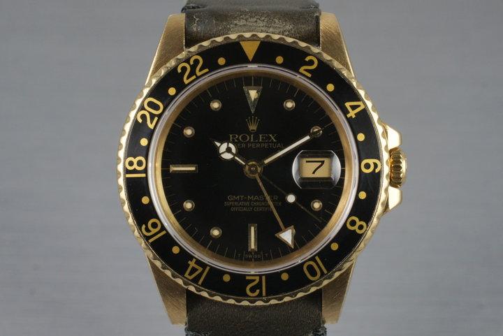 1985 Rolex 18K GMT Ref: 16758 photo