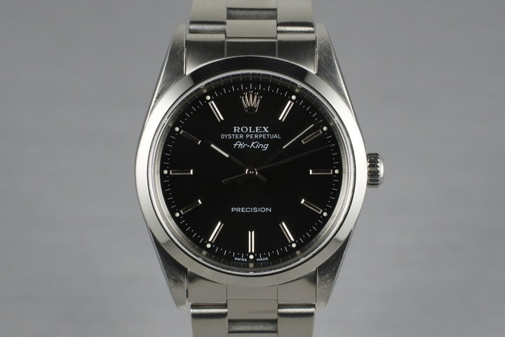 2001 Rolex Air King 14000M with Box and Papers photo