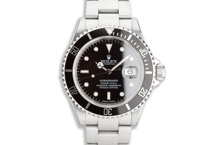 2009 Rolex Submariner Bezel Engraved 16610 T photo