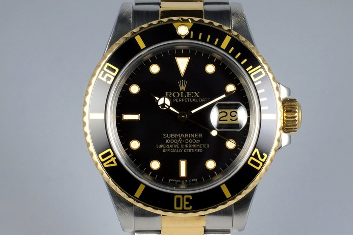1987 Rolex Two Tone Submariner 16803 Black Dial photo