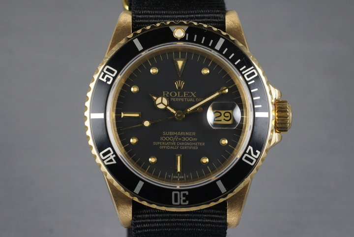 1981 Rolex YG Submariner 16808 with Box and Papers photo