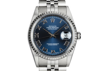 1999 Rolex DateJust 16200 Blue Dial photo