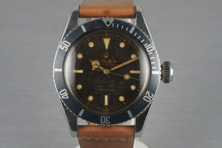 1956 Rolex Submariner Big Crown 6538 4 Line photo