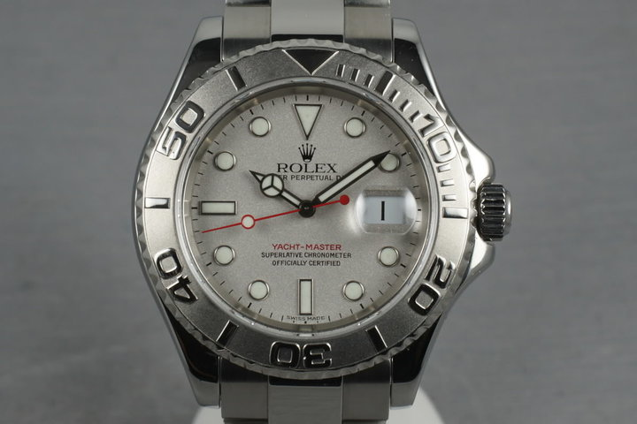 1999 Rolex Platinum and Stainless Steel Yacht-Master 16622 photo