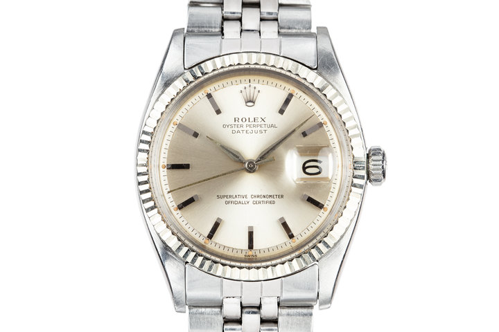 1963 Rolex DateJust 1601 Silver Dial with Dauphine hands photo