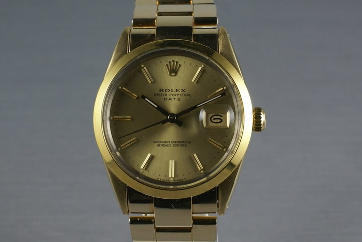 Rolex Gold Capped Date 15505 photo