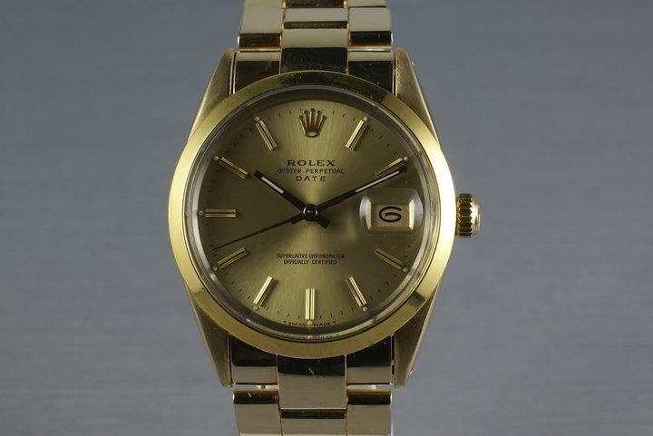 Rolex Gold Capped Date 15505 photo
