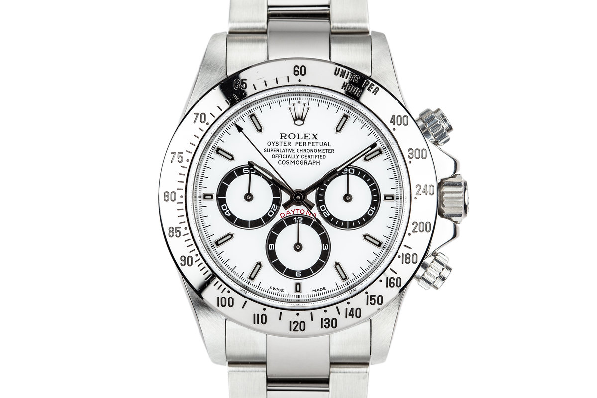 1999 Rolex Daytona 16520 White Dial with Box, Papers, and Service Papers photo, #0