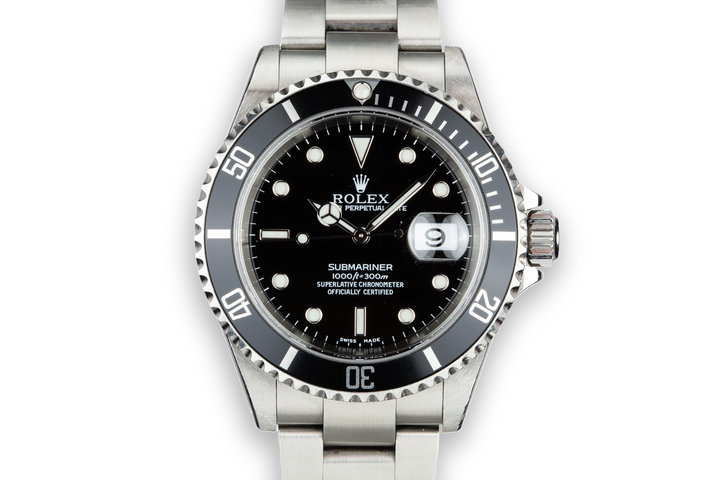 2002 Rolex Submariner 16610 with Box and Papers photo