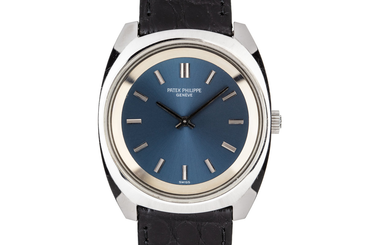 Patek Philippe Steel Calatrava 3579 Blue Dial photo, #0