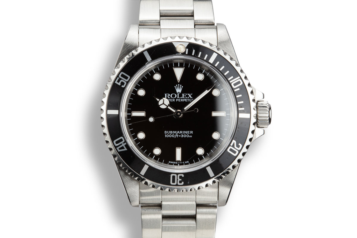 1995 Rolex Submariner 14060 with Box, Papers, and Service Papers photo, #0