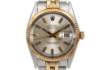 1969 Rolex Two Tone DateJust 1601 Silver Dial photo