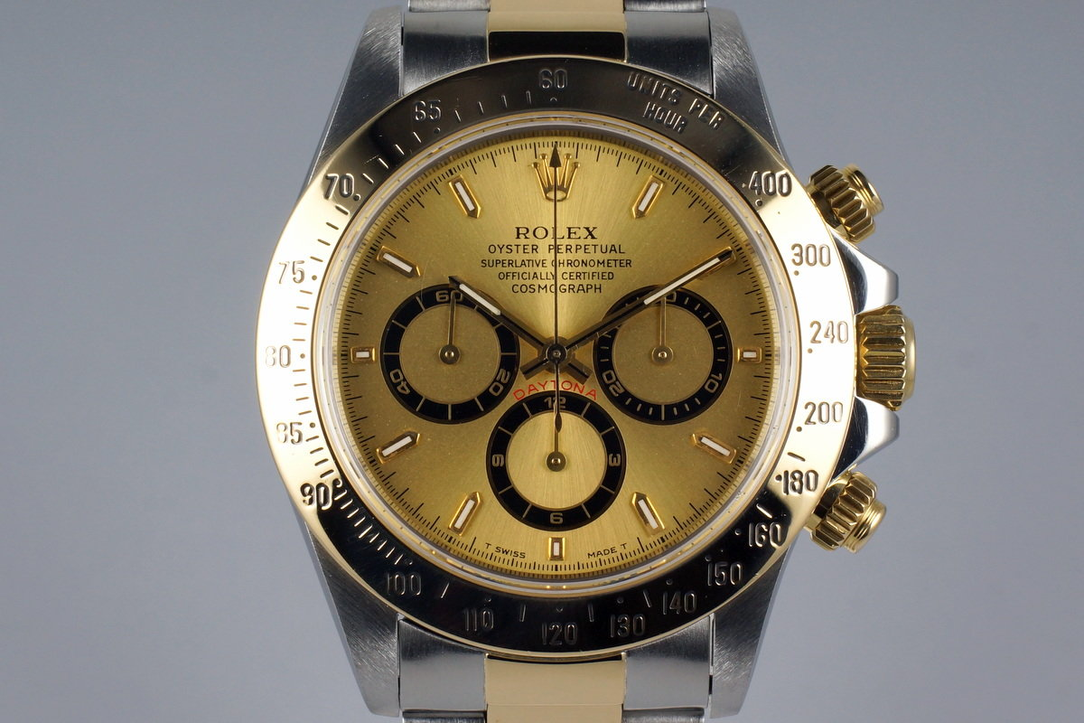 1997 Rolex Two Tone Zenith Daytona 16523 with Box and Papers photo, #0