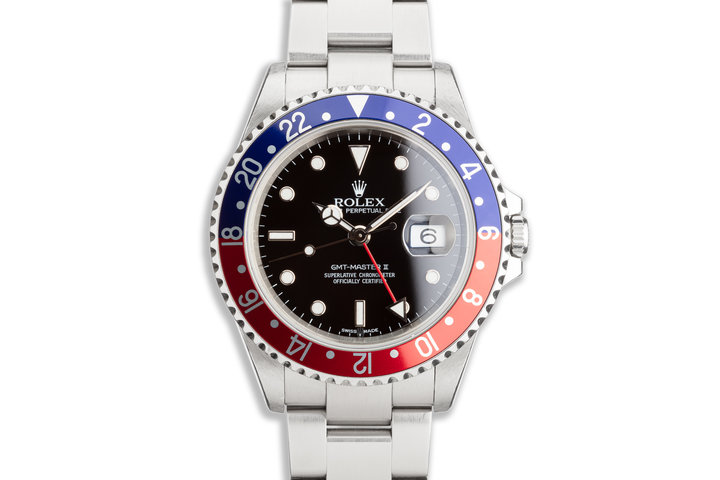"2002 Rolex GMT-Master II 16710 ""Pepsi"" Bezel Box & Papers photo"