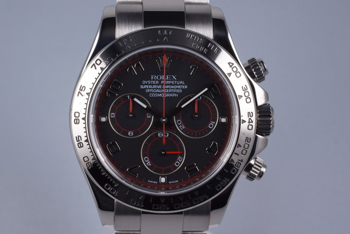 2007 Rolex WG Daytona 116509 Black Dial with Box and Papers photo