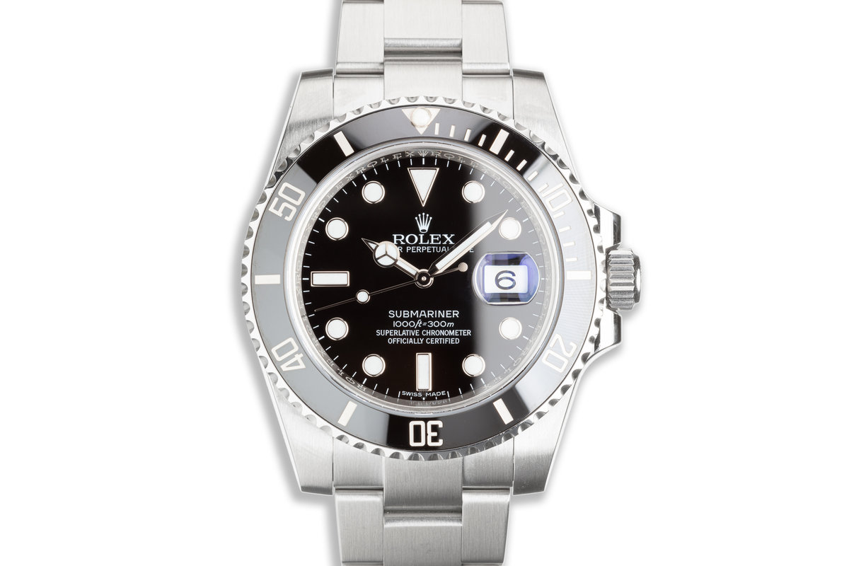 2017 Rolex Submariner 116610LN with Box & Card photo, #0