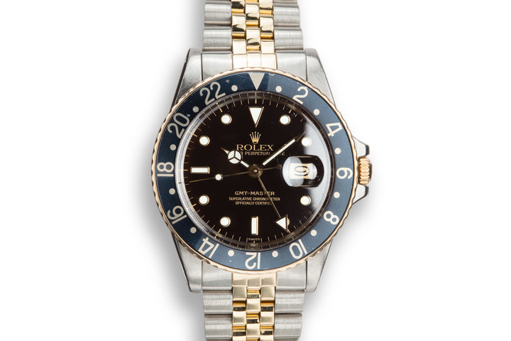 1982 Rolex Two-Tone GMT-Master 16753 with Luminova Service Dial photo