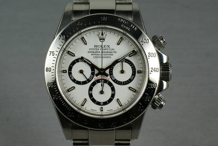 "Rolex SS Zenith Daytona Ref: 16520 ""white dial "" photo"