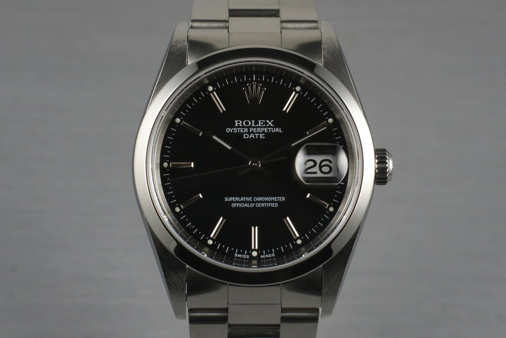 2003 Rolex Date 15200 Black Dial with Papers photo