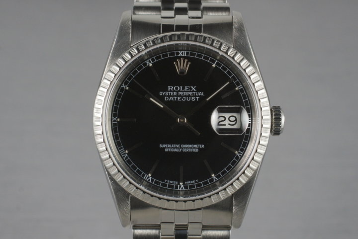 1991 Rolex DateJust 16220 with Box and Papers photo