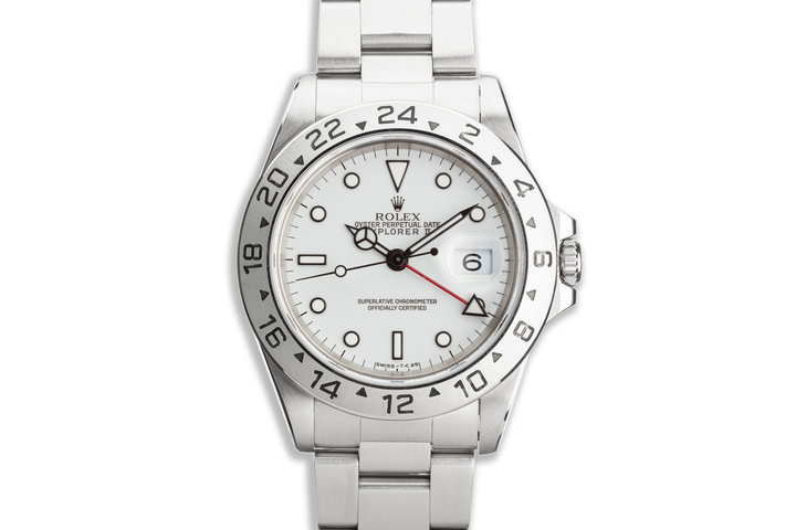"""1996 Rolex Explorer II 16570 """"Polar"""" White Dial with Box and Papers photo"""
