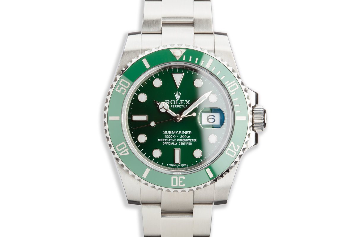 "2013 Rolex Green Submariner 116610LV ""Hulk"" with Box and Papers photo, #0"