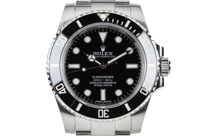 2012 Rolex Submariner 114060 with Box and Papers photo