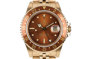 1984 Rolex 18K GMT with Root Beer Nipple Dial photo