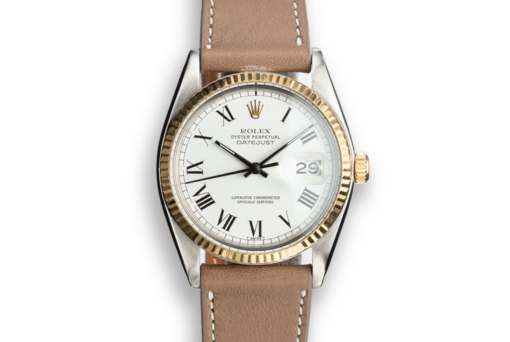 1978 Rolex Two-Tone DateJust 16003 White Large Roman Numeral Dial photo