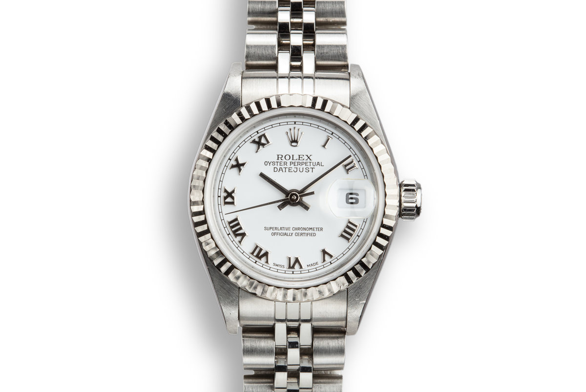 2003 Rolex Ladies DateJust 79174 White No Lume Roman Numeral Dial with Box and Papers photo, #0