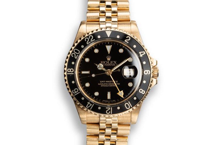 1990 Rolex 18K YG GMT-Master II 16718 photo