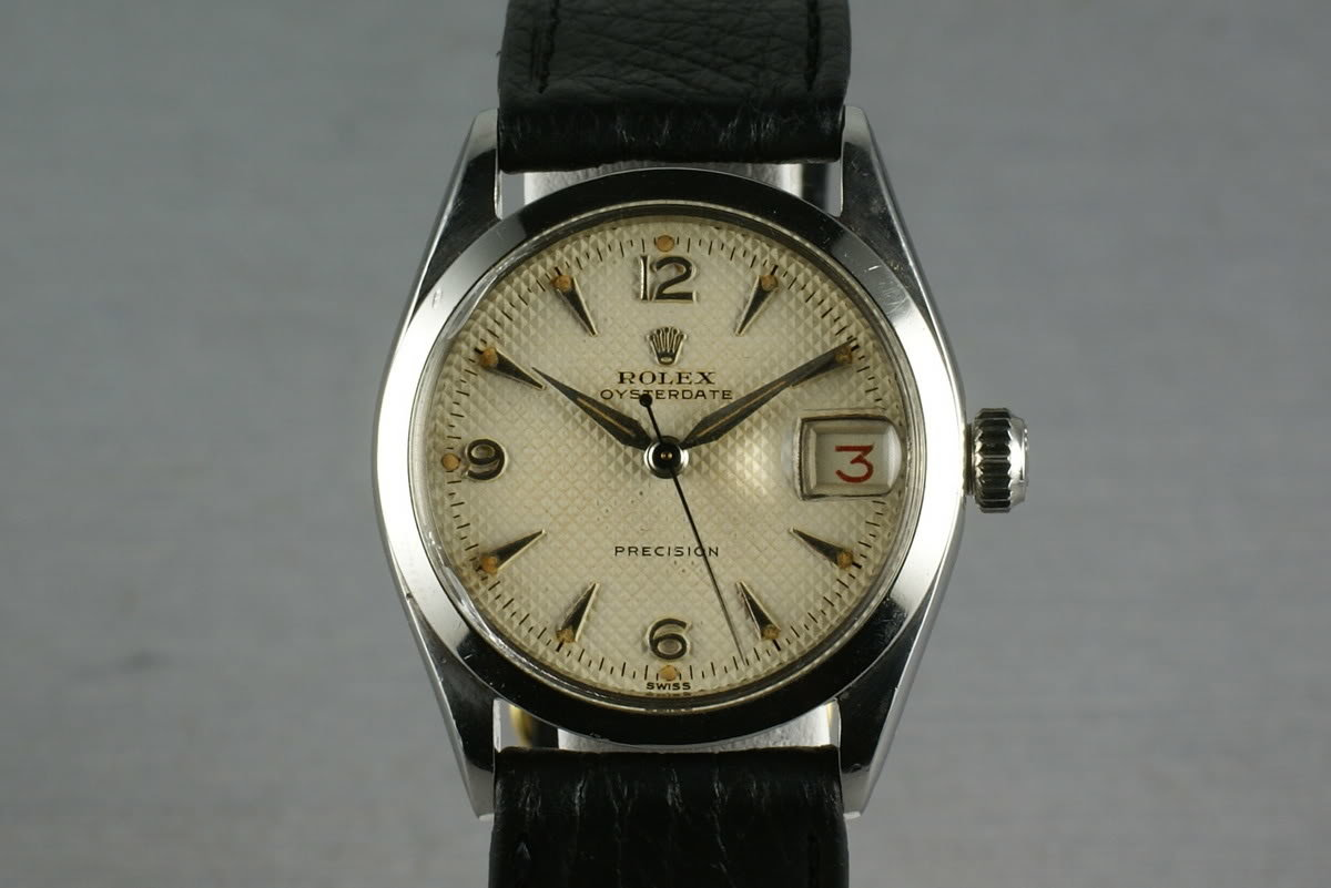 Rolex Oysterdate precision 6266 White Waffle Dial photo, #0