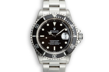 1997 Rolex Submariner 16610 SWISS Only Dial with Box and Papers photo