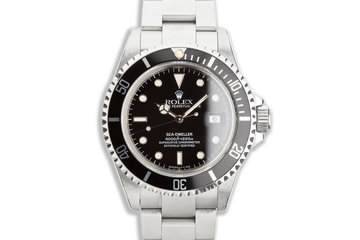 1991 Rolex Sea-Dweller 16600 with Box Service Papers & Papers photo