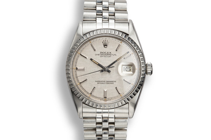 1966 Rolex DateJust 1603 Silver Linen Sigma Dial photo