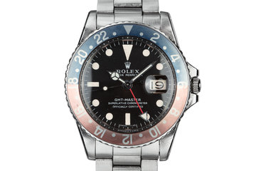 "1968 Rolex GMT-Master 1675 ""Pepsi"" with Box and Double Punch Papers photo"