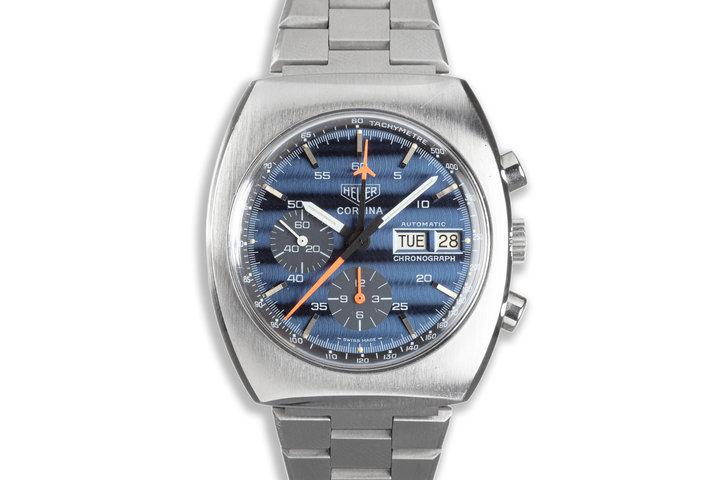 Heuer Cortina with Blue Dial photo