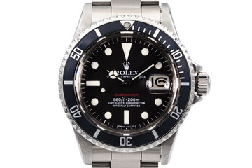 1972 Rolex Red Submariner Mark VI Dial photo