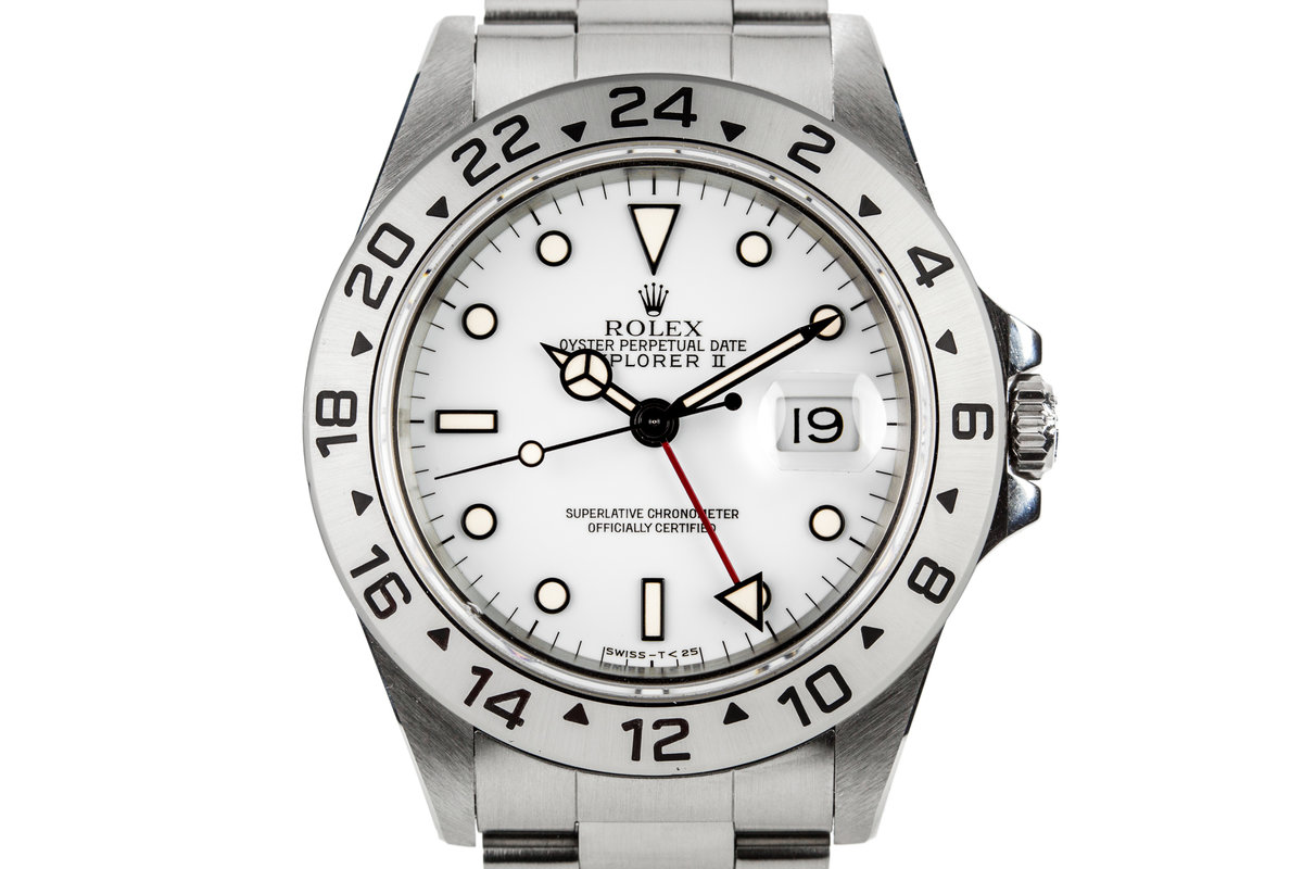 1991 Rolex Explorer II 16570 with White Dial photo, #0