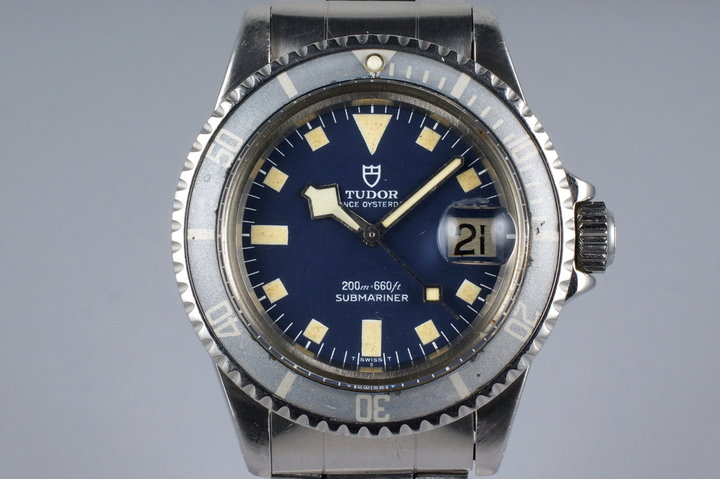 1981 Tudor Submariner 94110 Blue Snowflake photo