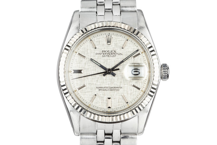 1972 Rolex DateJust 1601 with Silver Sigma Linen Dial photo
