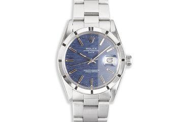 1973 Vintage Rolex Date 1501 Blue Dial photo