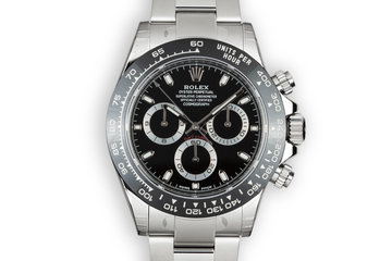 Mint 2017 Rolex Ceramic Daytona 116500LN Black Dial with Box and Papers photo